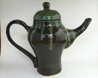 Dark Green Teapot