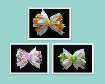 Bunny Face Toddlers-Girls Hair Bow Set