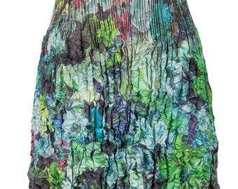 Moody aqua pleated cap sleeve dress