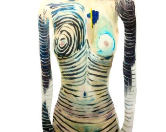 36x48 Abstract Woman's Body Painting