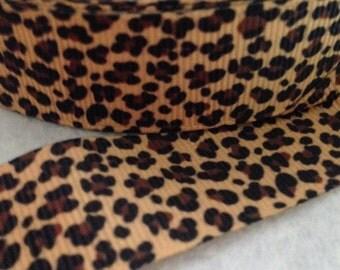 """Cheetah print grosgrain ribbon 7/8""""-5 yards"""