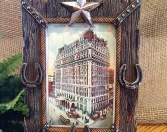 NEW YORK HOTEL Vintage Framed Postcard