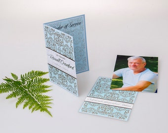 Custom Designed and Printed Memorial Booklet (A5 Booklet with Separate Insert)