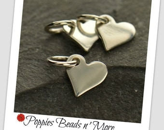 Tiny Sterling Silver Heart Dangle - 40