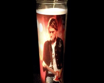 """Kurt Cobain Nirvana 2x8"""" Candle from Toxxic Candles"""