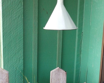 Upcycled Electic Metal Funnel Light-Pale Green