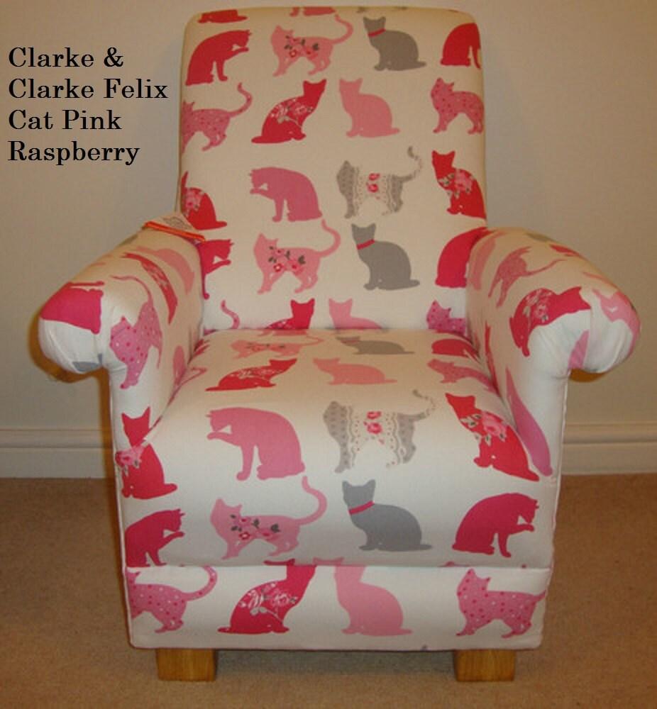 Clarke Amp Clarke Felix Cat Fabric Child S Chair Kittens