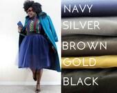 CUSTOM TUTU [ navy, silver, brown, gold, black ]