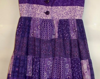 Purple Patchwork Dress