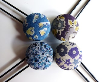 4 Liberty Stud Hairpins, Blue Collection