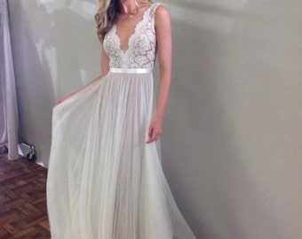 Best boho Inspirational  Wedding Dress  , Custom Made ,