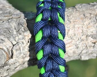 Customizable Paracord Bracelet, Oak Spike Sinnet
