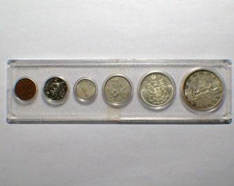 Whitman Canada 1965, 6 coin Set, (4 silver), Dollar, 50c, 25c, 10c, 5c, 1c