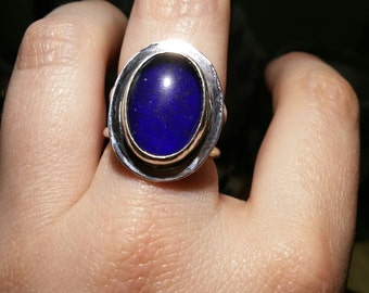Silver Glass Mood Stone Ring