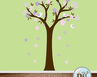 Baby Wall Decal - Nursery Vinyl Wall Decal - Kids Wall Sticker - Tree Decal - Nursery Decals - Children Tree Vinyl Decal -  409155
