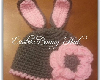 Easter Bunny Crochet Hat