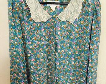 Vintage Susan Richards of California, floral Susan Richards blouse