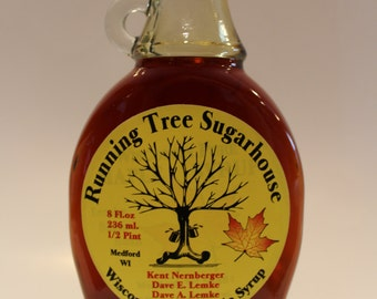Running Tree Sugarhouse Pure Maple Syrup - 1/2 Pint (8 oz)
