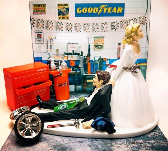 Mechanic Wedding Cake Topper Funny