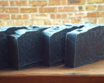 Smokey Mountain Charcoal Soap: detox bar made with pure lavender and cedar wood essential oils plus detoxifying bentonite clay