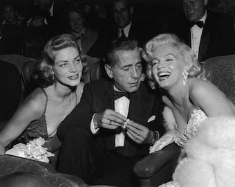 Lauren Bacall Humphrey Bogart Marilyn Monroe Poster Art Photo 11x14