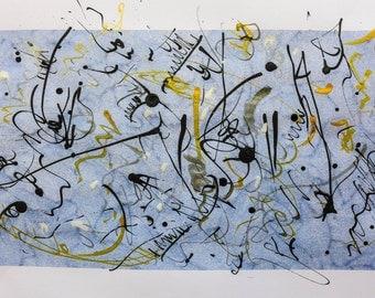 "Abstract Original Drawing  ""Galaxy One"""