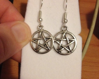 Pentagram Earrings and Necklace
