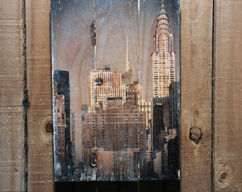 Chrysler Building - NYC Wall Art - NYC Photograph - New York Art - New York Wall Art - 11x17 - Wood Wall Art - New York Picture