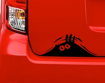 Peeking Monster (F20) Vinyl Decal Sticker Car/Truck Laptop/Netbook Window
