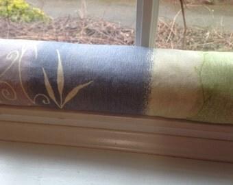 "Door Draft Stopper Cedar Filled Insect Repellent Breeze Blocker Lavender Rosemary Green 28"""