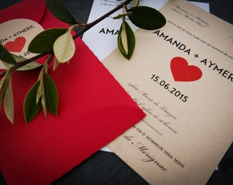 Announcements - Theme love + his red envelope and its custom label - command by 15 min