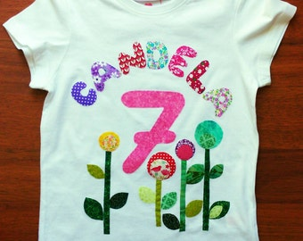 T-shirt personalized flower girl.