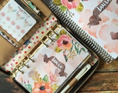 Floral Watercolor Personalized Dashboard for Personal Size and A5