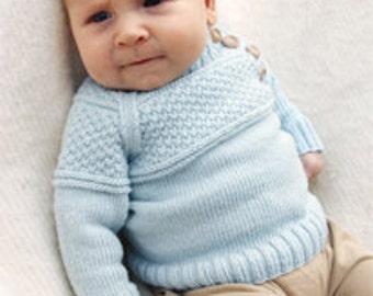 Knitted baby jacket, baby sweater, knit baby cardigan, newborn jacket