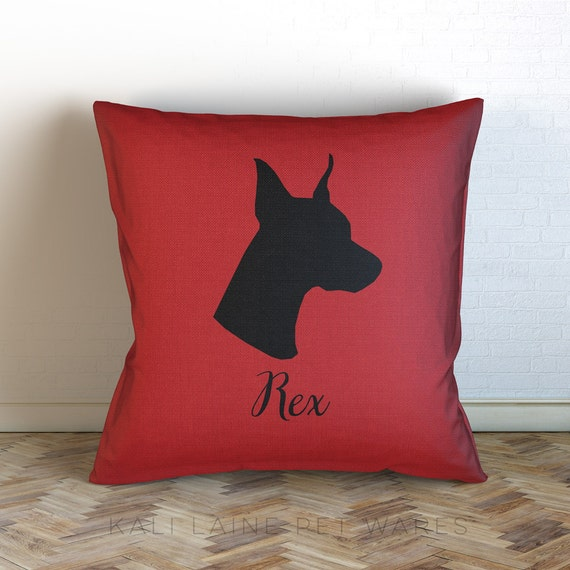 Custom Dog Name Decorative Throw Pillow/ Personalized/ Choose