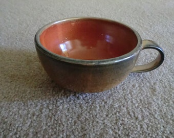 Handmade Orange Shino Teacup