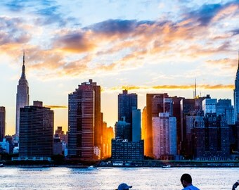 New York Skyline Dusk
