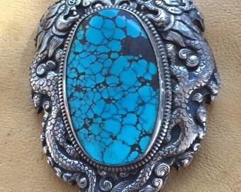 Huge Turquoise pendant