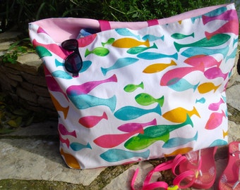 Large bag of cloth coated fish multicolor Pink Beach