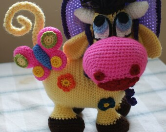 FREE DELIVERY Handmade Crochet Cow Toy