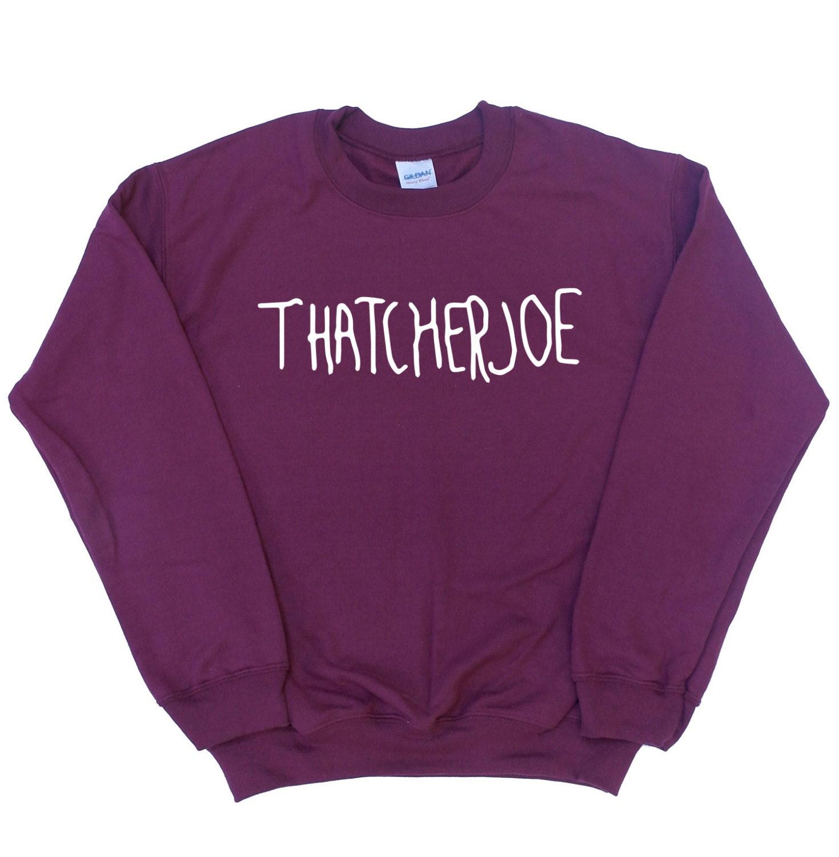 Joe sugg merchandise thatcherjoe jumper joe sugg