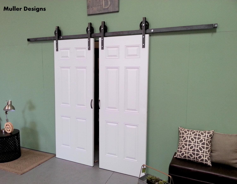 Closet double door sliding barn door hardware by for Closet barn door hardware