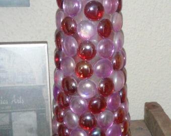 glass pebble vase