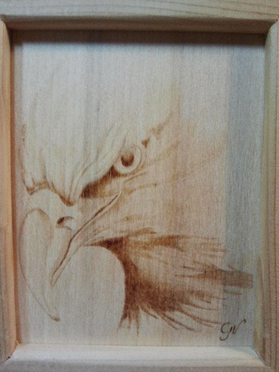 Aquila quadro pirografia su legno - Decorazioni pirografo ...