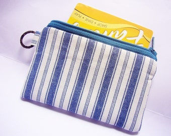 sale Blue jeans n I, portefeuille, gift for men, credit card case, coin purse id1340968, moneystash, moneybag, small pouch