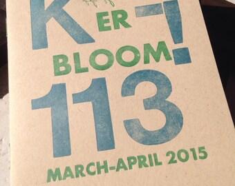 Kerbloom letterpress zine 113 about parenting