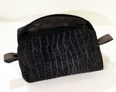 Small Boxy Project Bag - Grey Crocodile - For Crafts or Travel