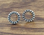Halo Studs - Sterling Silver