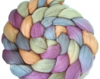 Handpainted Superfine Merino Wool Roving - 4 oz. RIVENDELL - Spinning Fiber