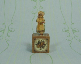 Dollhouse Miniature Girl Paper Doll Decorative Stand Up